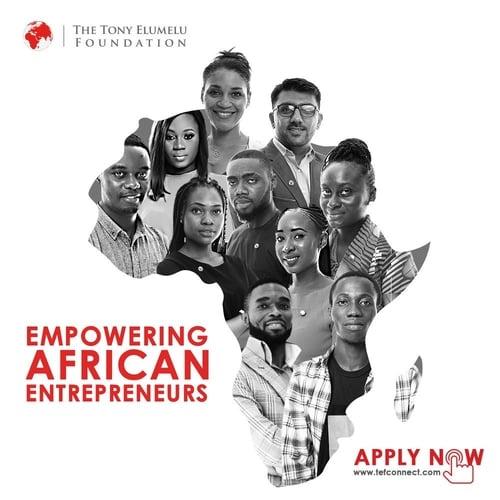 2020 Tony Elumelu Foundation Entrepreneurship Programme For Africans