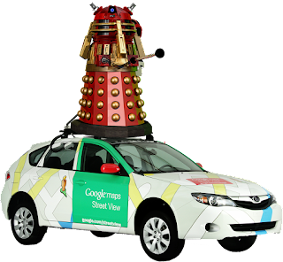 Google Street View Mapping Vehicle + Dalek