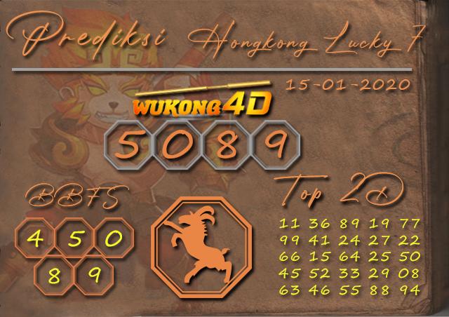 Prediksi Togel HONGKONG LUCKY 7 WUKONG4D 15 JANUARI 2020