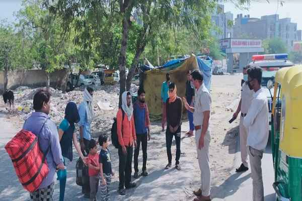 faridabad-police-action-against-immigants-take-them-surajkund-shelter-home