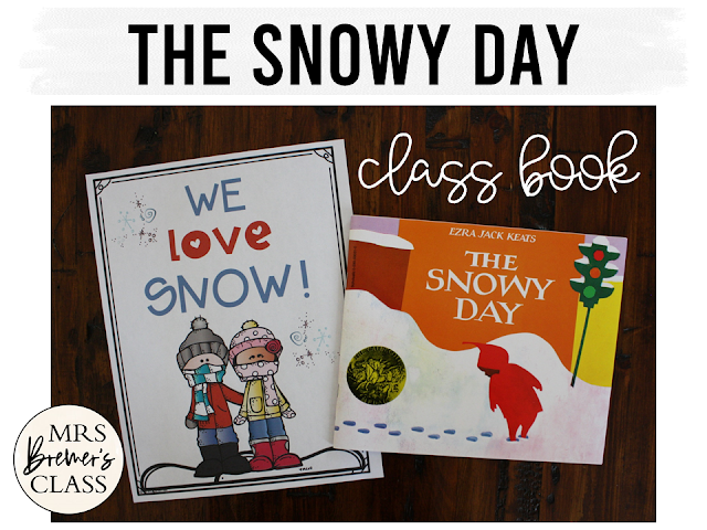 The Snowy Day and The Jacket I Wear in the Snow book study companion activities with class books & craftivity perfect for a snowy winter theme. Common Core aligned. K-1