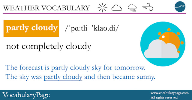 Weather vocabulary - partly cloudy