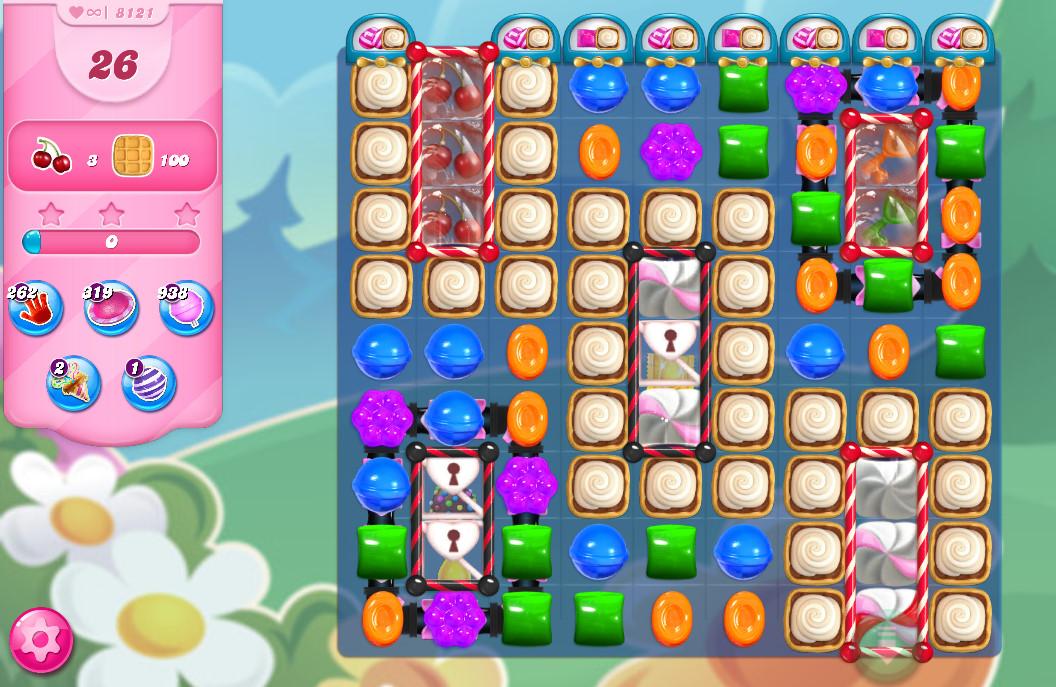 Candy Crush Saga level 8121