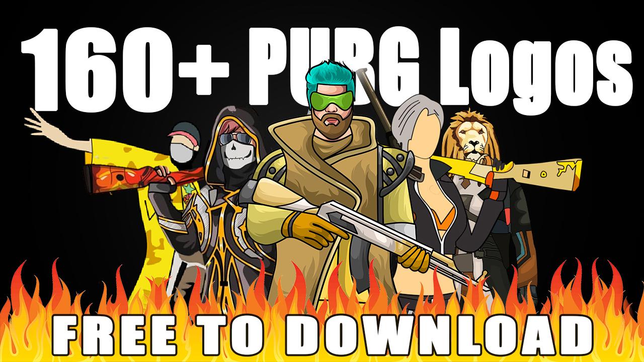 160+ PUBG mascot logo pack
