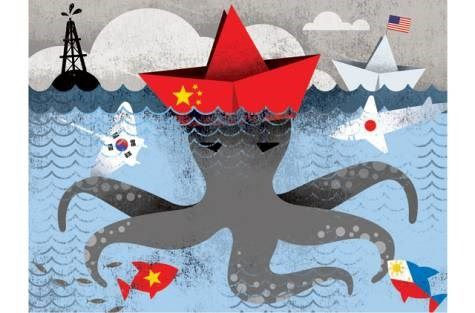 Những cái vòi của con qoái vật Đại Hán Trung Quốc