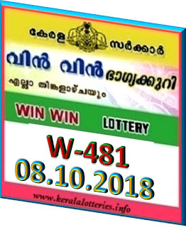 kerala lottery result from keralalotteries.info 08/10/2018, kerala lottery result 08.10.2018, kerala lottery results 08-10-2018, win win lottery W 481 results 08-10-2018, win win lottery W 481, live win win   lottery W-481, win win lottery, kerala lottery today result win win, win win lottery (w-481) 08/10/2018, W 481, W 481, win win lottery result, gov.in, picture, image, images, pics,   pictures kerala lottery, lottery kerala-lottery-results, keralagovernment, win win lottery kerala   result win win today,