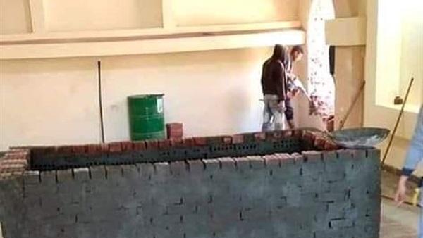 مقبرة الأنبا صرابامون بدير الأنبا بيشوي تستعد لاستقبال جثمانه شاهد الصور