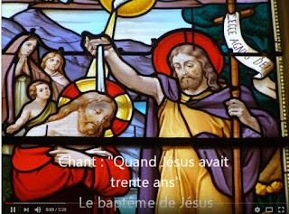 ouvrir la page chants sur le baptême de jesus