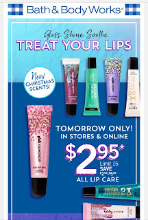 Bath & Body Works | Tuesday, October 22, 2019 One Day Only Email - $2.95 Lips