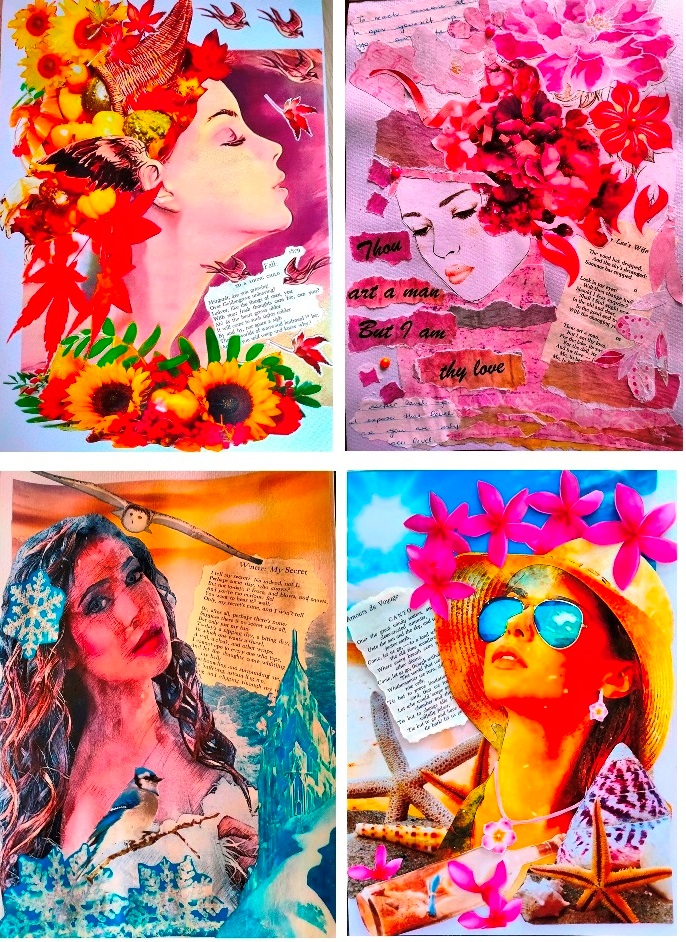 """Mixed media paper art collaging - great for those who want to try something creative but don't feel """"artistic"""""""
