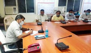 डीएम ने की विद्युत विभाग के कार्यों की समीक्षा    #NayaSaberaNetwork