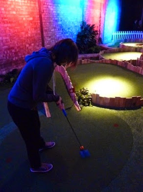 Emily in action at Swingers Crazy Golf