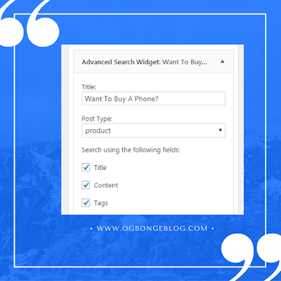 woocommerce product search widget