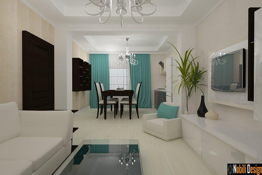 Design Interior-Amenajari Interioare-Design interior living cu bucatarie casa moderna-Constanta