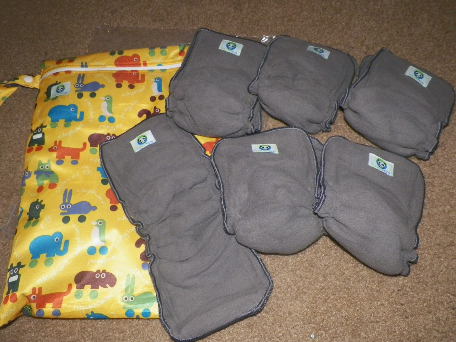 mygreatfinds: Charcoal Bamboo 5-Layer Cloth Diaper Insert ...