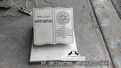 Nisan Buku Kombinasi, Model Nisan Buku Terbaru, Nisan Muslim Minimalis
