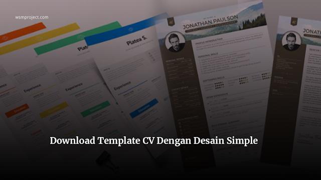 Download-Template-CV-Dengan-Desain-Simple-Langsung-Unduh
