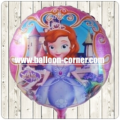 Balon Foil Bulat Princess Sofia