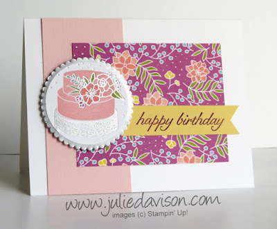 Stampin' Up! Sweet Soiree Birthday Card ~ 2018 Occasions Catalog ~ www.juliedavison.com