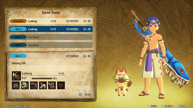 Azure Serpentblade Great Sword character model Monster Hunter Stories 2 save data