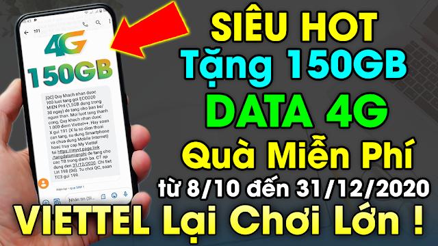 """Thể lệ tham gia chương trình """"4G cho mọi người"""" nhận 150 GB 4G miễn phí của Vietel"""