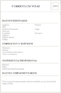Modelo Curriculum Vitae Argentina Pdf Hr Recruitment