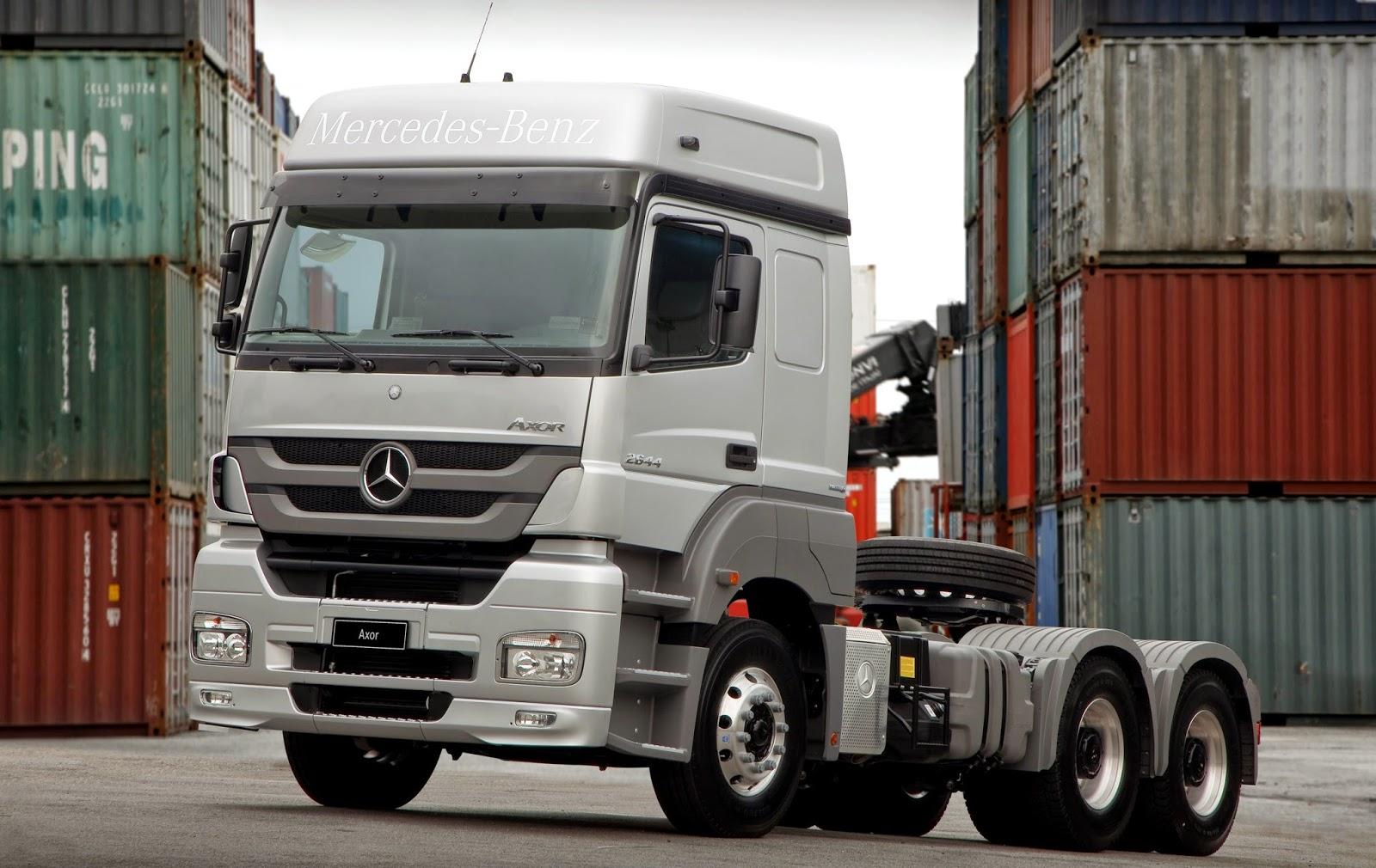 Teste do MB Axor 2644   Caminhões e Carretas - A parada online do  caminhoneiro