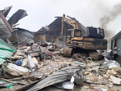 photo of wike demolishes two hotels