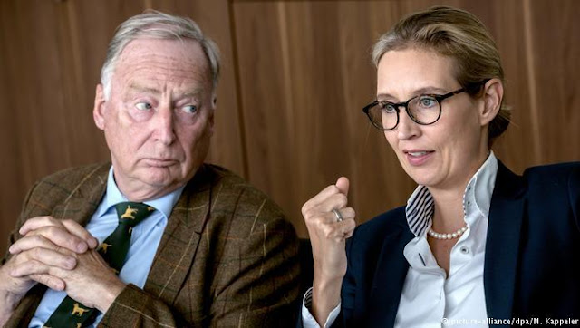 AfD - Alternative for Germany - directed by Alexander Gauland and Alice Weidel.