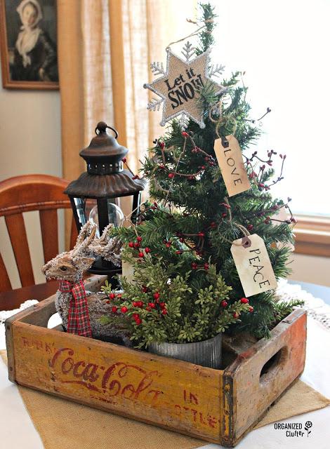 Coca-cola crate Christmas vignette.