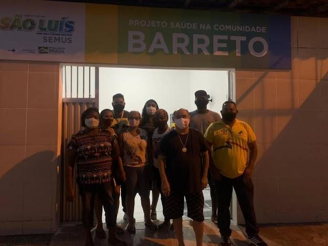 Astro de Ogum visita posto de saúde no Barreto e anuncia doação para compra de materiais