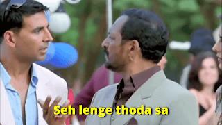 Seh lenge thoda sa, Nana Patekar as Uday Shetty | best welcome movie meme templates & dialogue