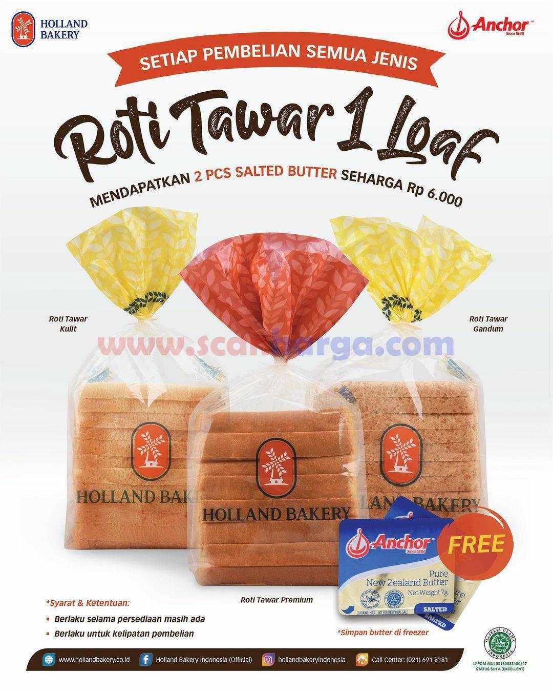 HOLLAND BAKERY Promo 2 Salted Butter ANCHOR Harga hanya Rp 6.000
