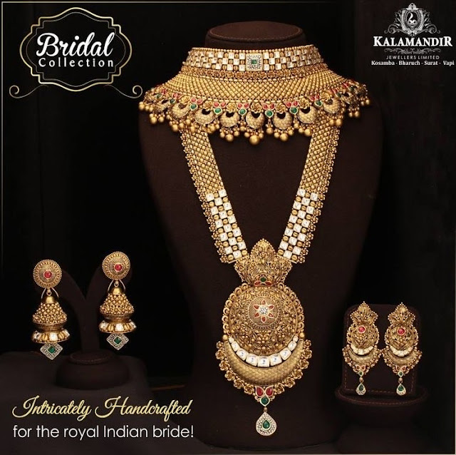 Antique Kundan Haar by Kalamandir