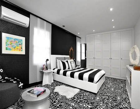 Desain Kamar Tidur Bernuansa Hitam Putih  Desain Rumah Minimalis Lengkap Modern Indah