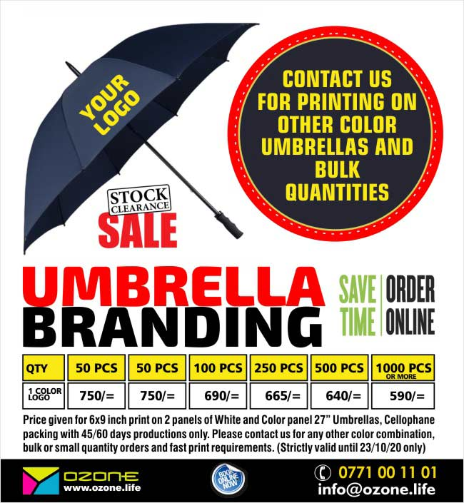 Umbrella Branding with your Logo | Annual Clearance