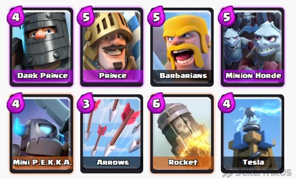 Susunan kartu deck terbaik clash royale arena 7 taktik for Clash royal deck arene 7