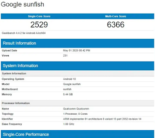 Google Pixel 4a Smartphone with 6GB RAM Listed on This Benchmark Site