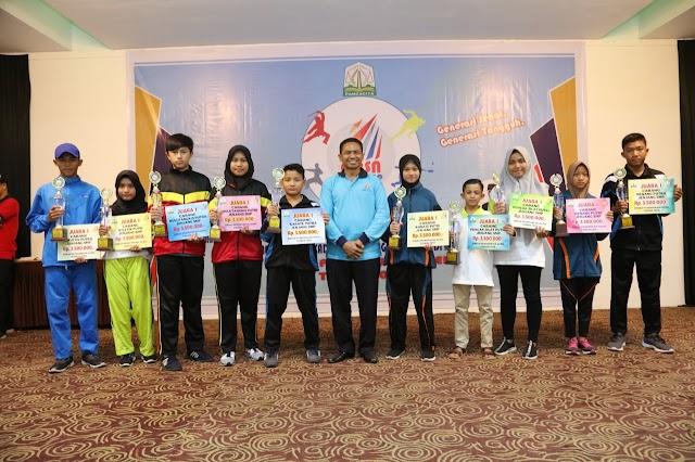 Langsa Sapu Bersih Juara O2SN tingkat SMP