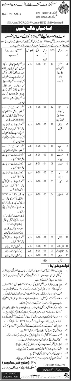 Jobs in Secretariat Of The Board Of Revenue