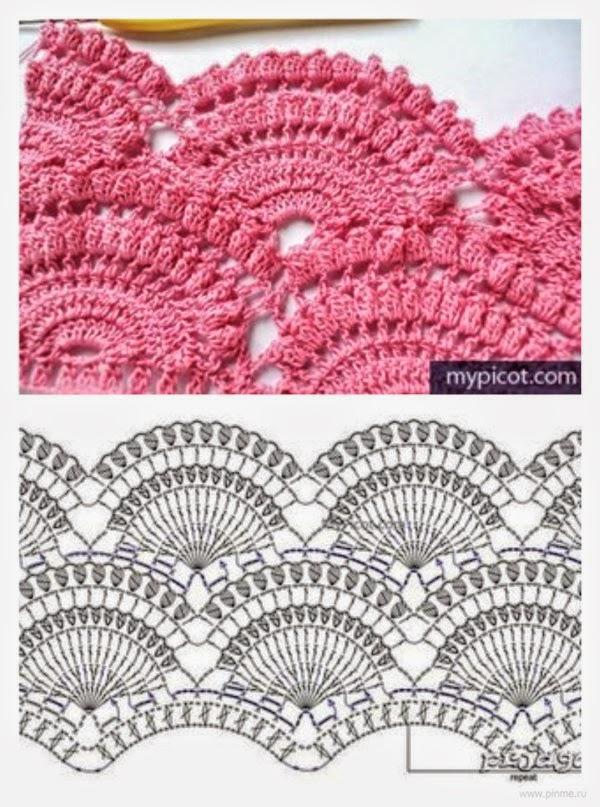 Patrones de bellísima falda crochet | Crochet y Dos agujas ...