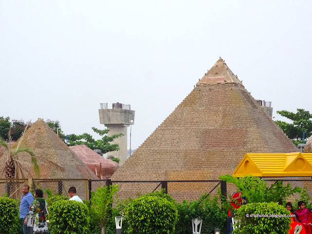 Replica of Pyramids of Egypt at Eco Tourism Park, Kolkata