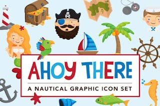 Ahoy There Nautical Illustrations
