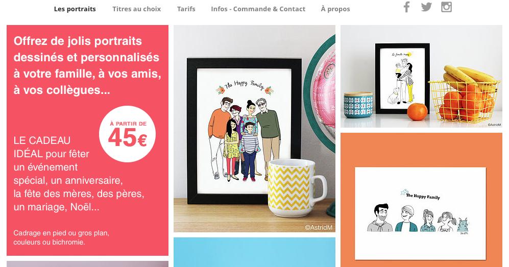 Astridm astridm la boutique portraits de famille - Www comptoir de famille com boutique ...