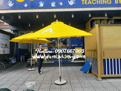 Bán dù tròn 3m che nắng cho quán cà phê, cửa hàng tại Phan Thiết, Bình Thuận