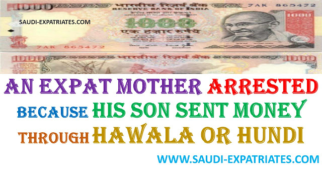 EXPAT MOTHER ARRESTED FOR RECEIVING MONEY FROM SON