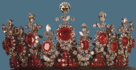 ruby diamond tiara iran princess ashraf pahlavi van cleef and arpels