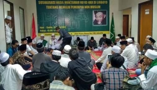 Warga NU Wajib Pilih Pemimpin Muslim