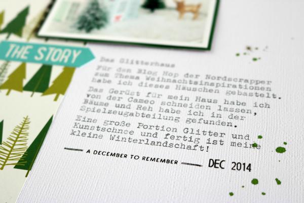 Das Glitterhaus | Scrapbooking Layout | Dezember-Kit der Scrapbook Werkstatt