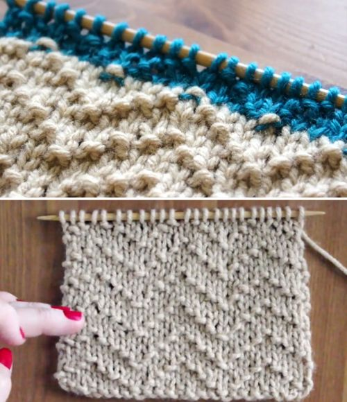 How to Knit the Chevron Seed Stitch
